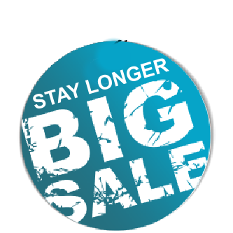 Get up to 55% off with our 'Stay Longer' offer.