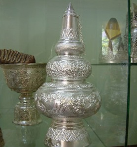 A beautifully ornamented Silver container used by the King of Laos.